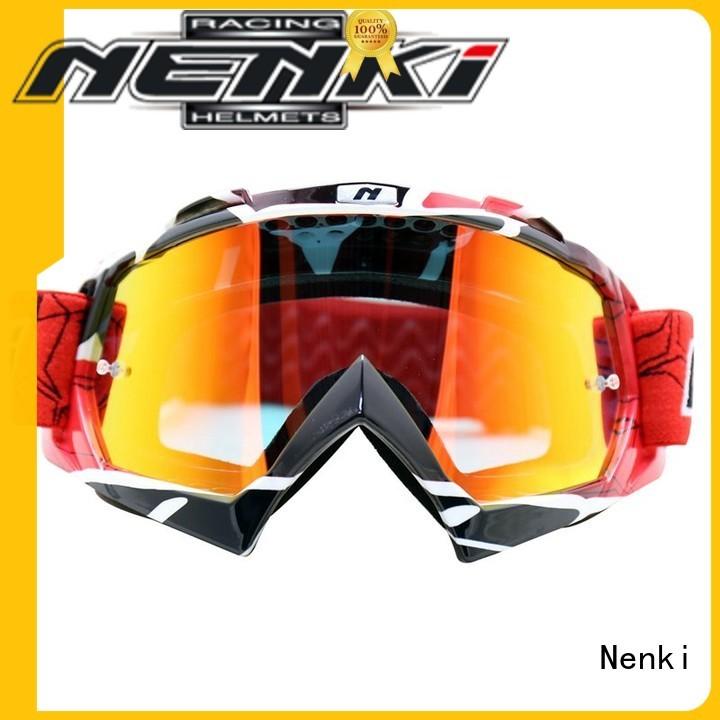 affordable adjustable Hot selling Adjustable best motocross goggles Nenki Brand