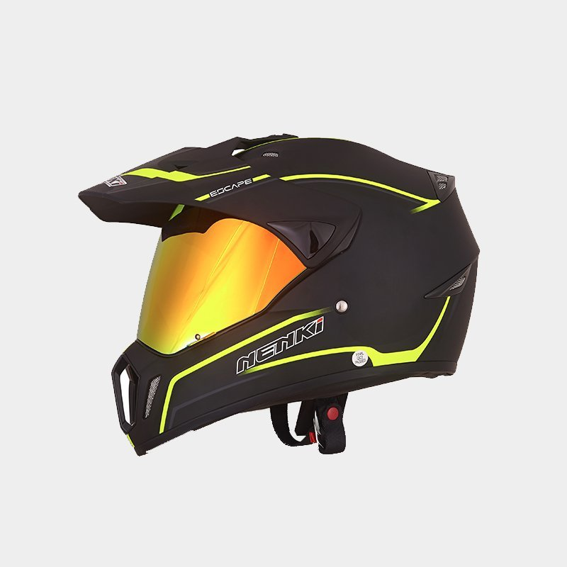 safe visor Fashion dual sport helmet with sun visor new Nenki Brand