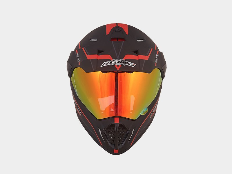 Comfortable Outdoor dual sport helmet with sun visor Top rated Nenki