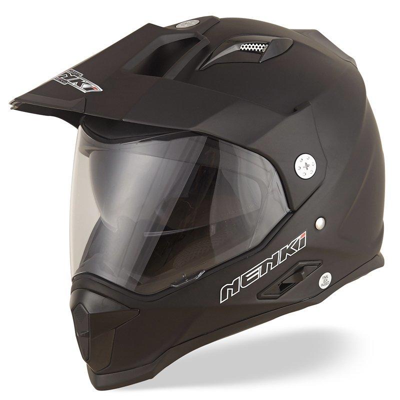 Dual Sport Helmet Motocross Off Road Motorcycle Helmet Full Face Helmet ECE Approved Dual Visors NK-313 Nenki Helmet