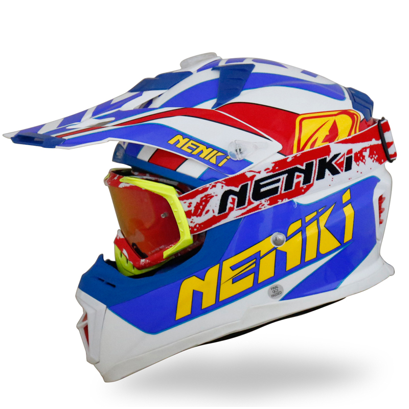 Nenki Motorcycle Motocross DOT Approved ATV Dirt Bike Motorbike Off Road Free MX Goggles  NK316 Nenki Helmet Motocross Helmets image13