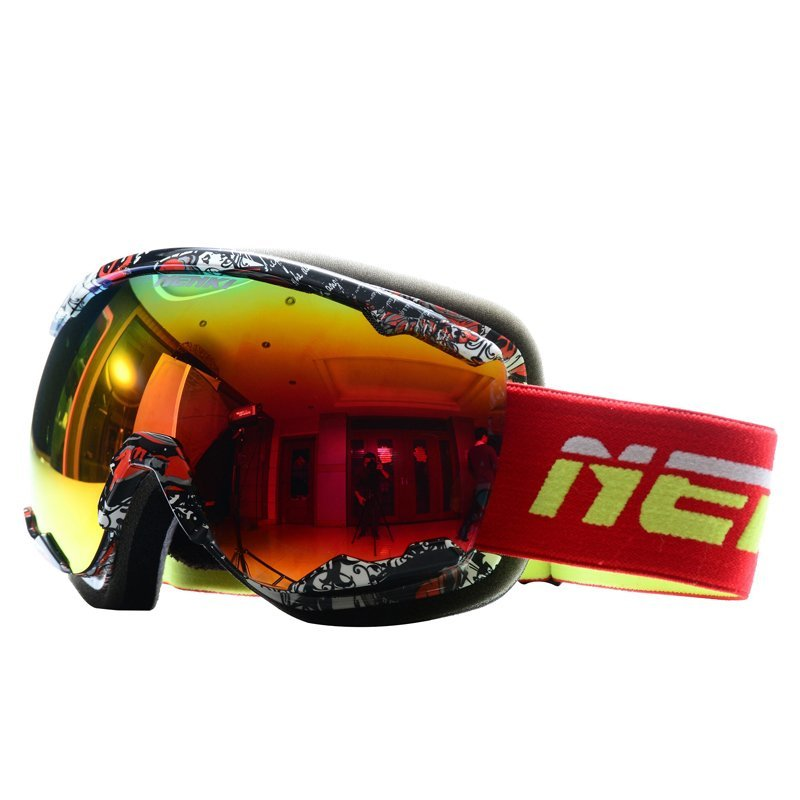 79975a1b21d Ski Goggles Snow Goggles 100% 400 UV Protection Anti Fog Outdoor Sports  Snowboard Glasses NK1007