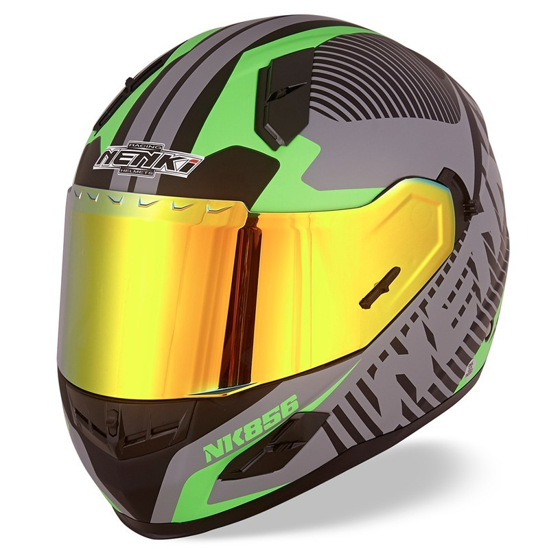 Top rated visor shell full face motorcycle helmets for sale Multi Color Nenki Brand