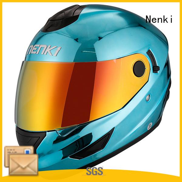discount full face motorcycle helmets fiberglass full face full face motorcycle helmets for sale Nenki Brand