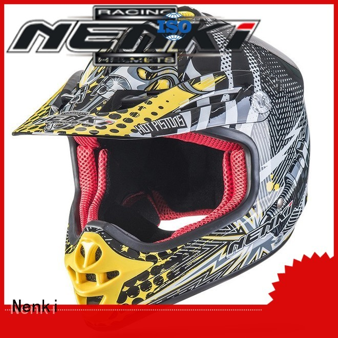colorful Comfortable motocross helmets for sale Adult wholesale Nenki company