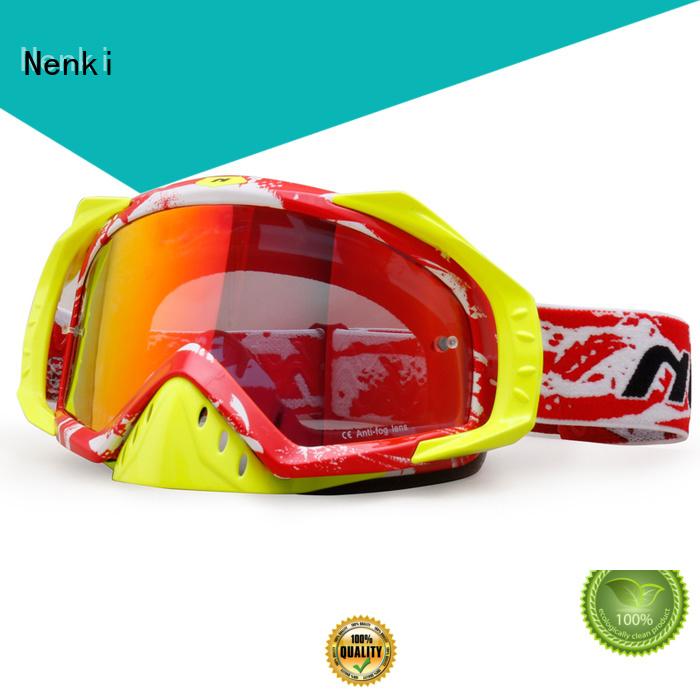 Wholesale Comfortable affordable cheap motocross goggles Nenki Brand