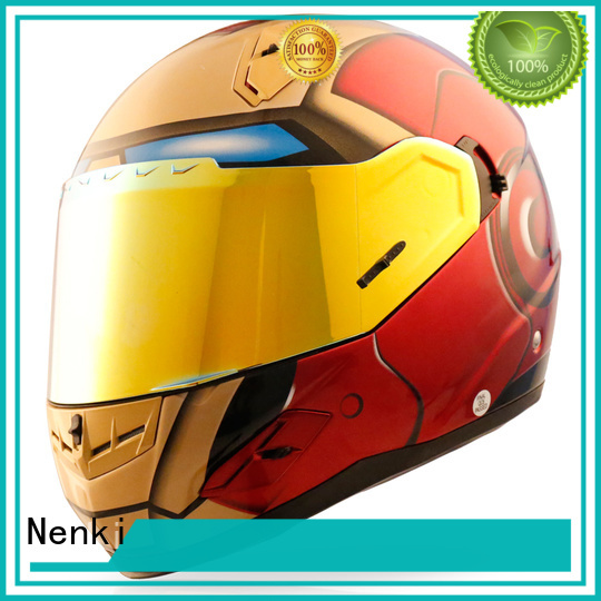 Quality Nenki Brand Adult spiderman full face motorcycle helmets for sale