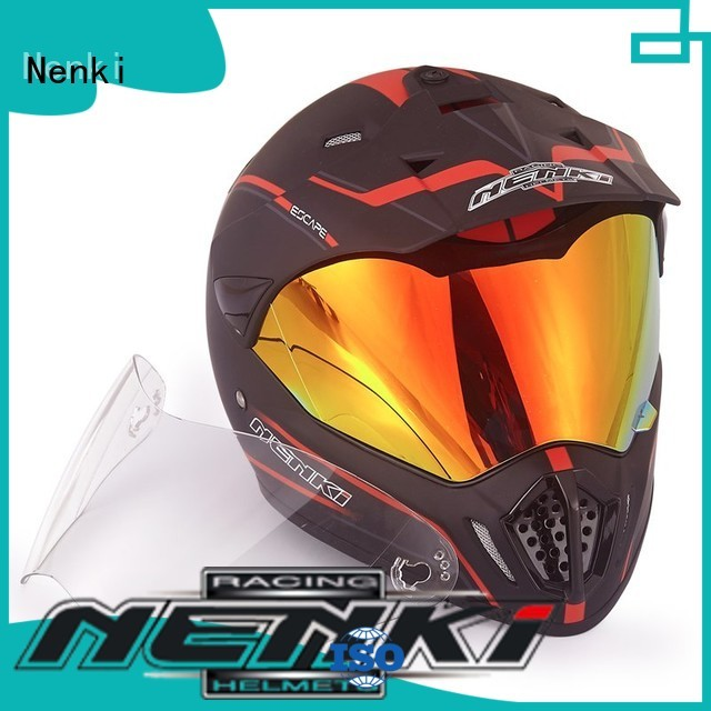 Nenki Brand safe Hot selling wholesale best adventure motorcycle helmet OffRoad