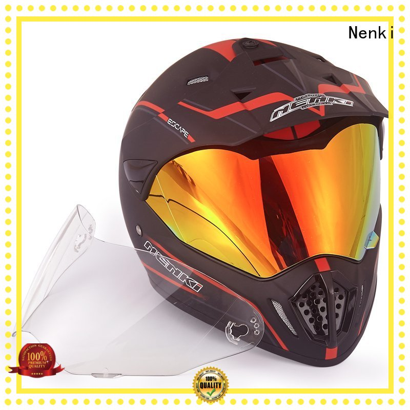 Comfortable certified best adventure motorcycle helmet colorful shell Nenki Brand