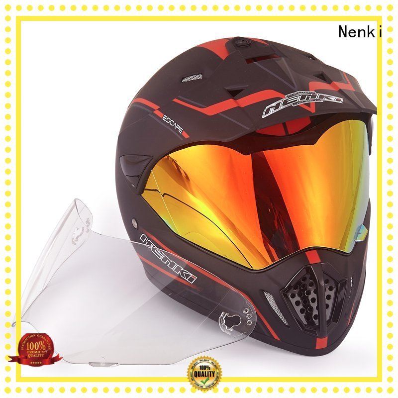 Comfortable certified best adventure motorcycle helmet colorful shell Nenki Brand