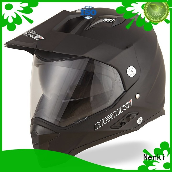 High quality Custom OffRoad dual sport helmet with sun visor Comfortable Nenki