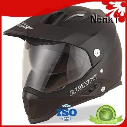Nenki Brand shell dual sport helmet with sun visor Comfortable factory