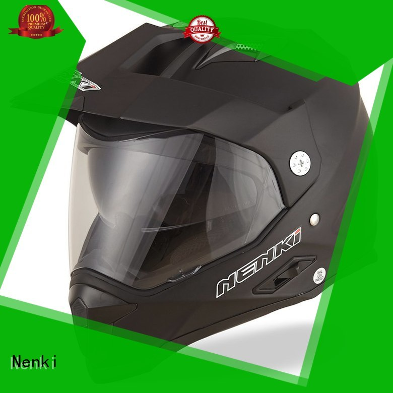 best adventure motorcycle helmet visor High quality dual sport helmet with sun visor Outdoor Nenki Brand