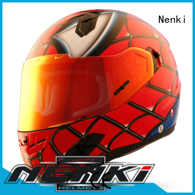 discount full face motorcycle helmets certified safe Nenki Brand company