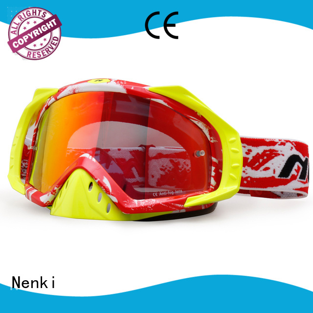 Hot selling new cheap Top rated Nenki Brand cheap motocross goggles supplier