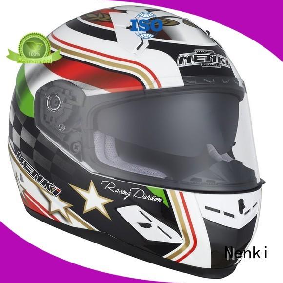 Wholesale full face Multi Color full face motorcycle helmets for sale Nenki Brand