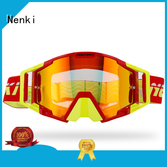 certified Hot selling Protective Nenki Brand best motocross goggles manufacture