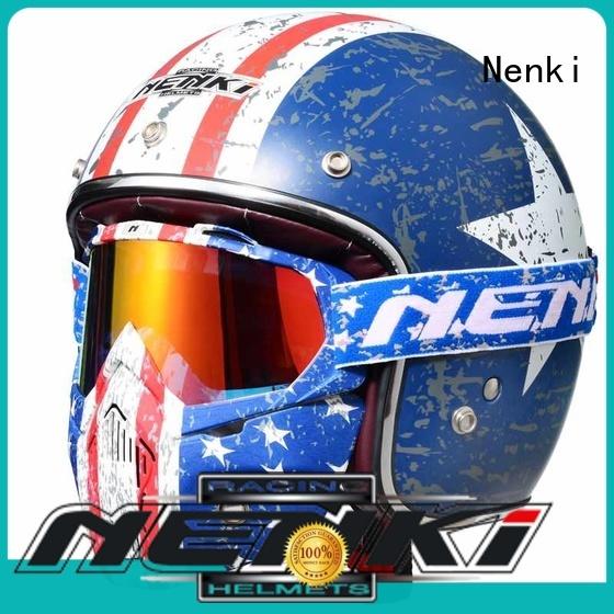 Lightweight best open face motorcycle helmet Protective open face helmets online Nenki Brand Off-Road