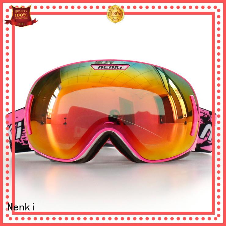 Nenki Brand Flexible High quality top rated ski goggles skating
