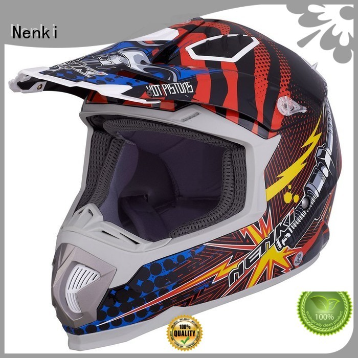 Top rated Hot selling motocross helmets for sale Multi Color Nenki Brand company
