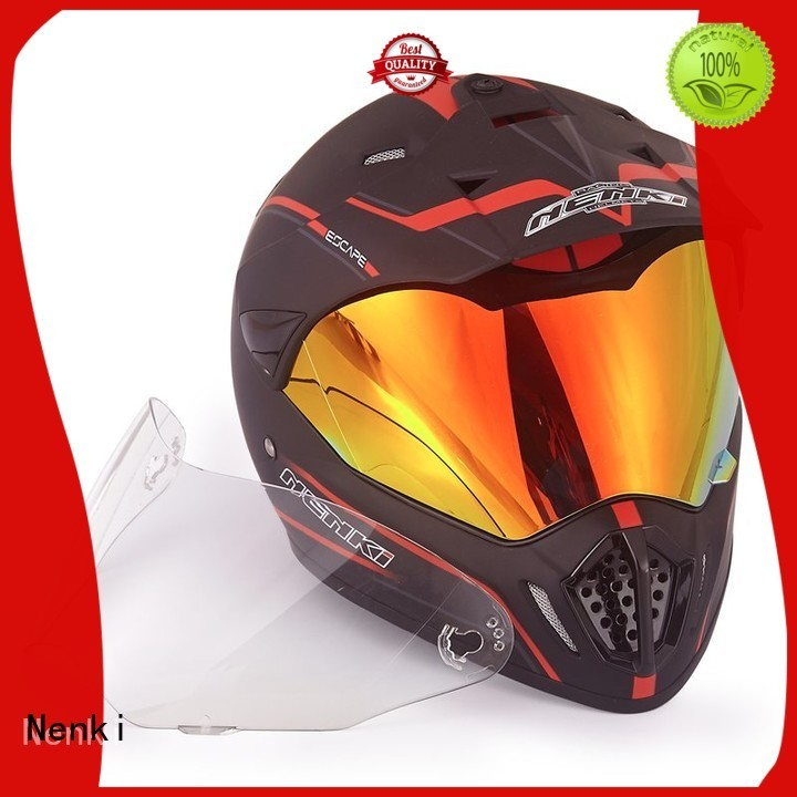 best adventure motorcycle helmet Hot selling Nenki Brand dual sport helmet with sun visor
