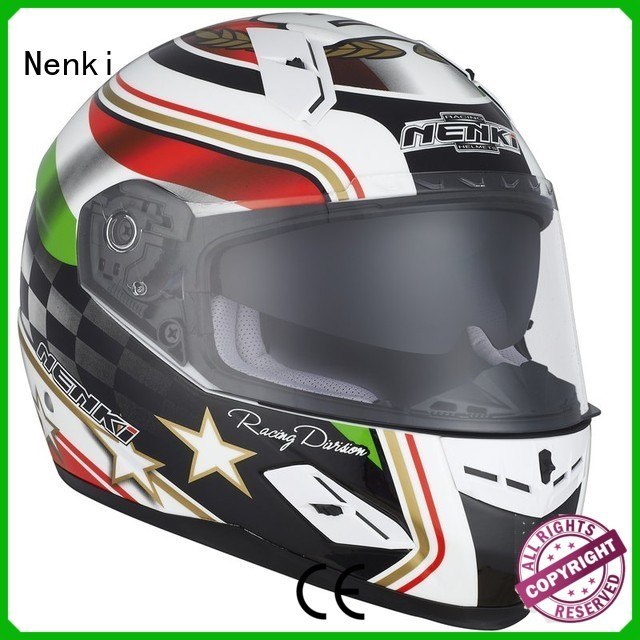 discount full face motorcycle helmets safe Comfortable Nenki Brand company