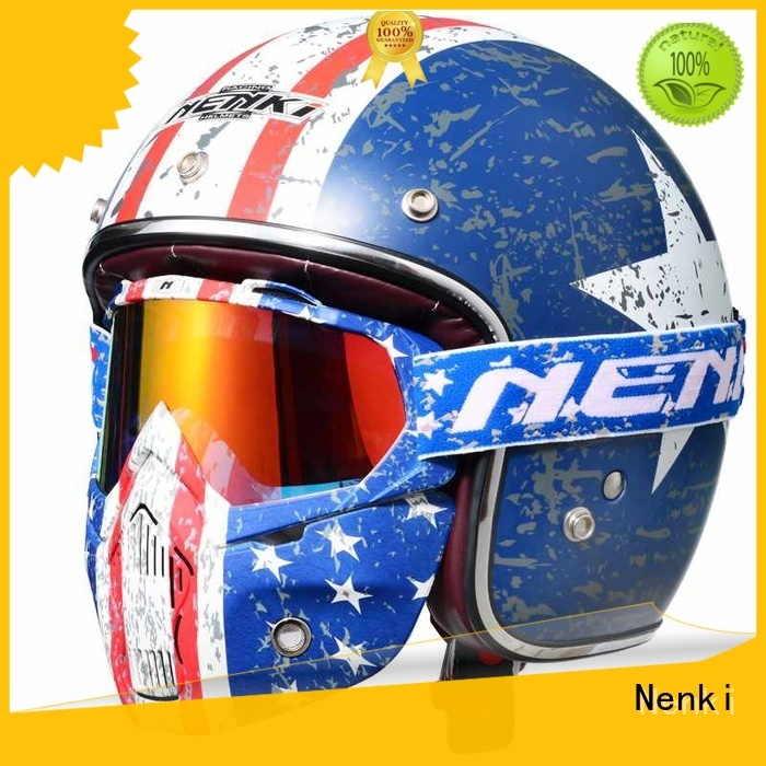best open face motorcycle helmet new affordable Warranty Nenki
