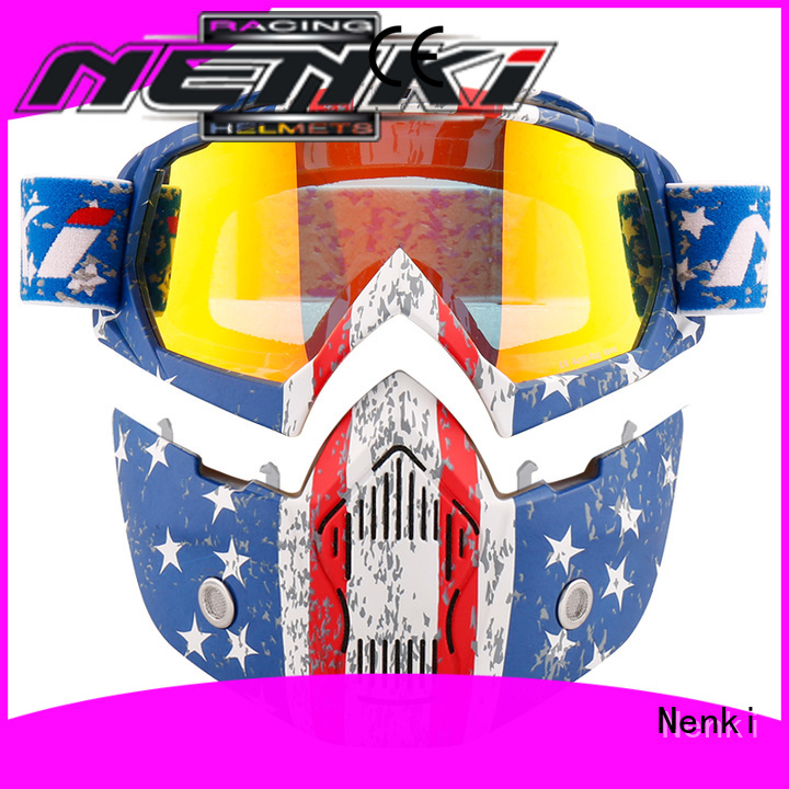 colorful Adult Multi Color Nenki Brand best open face motorcycle helmet manufacture