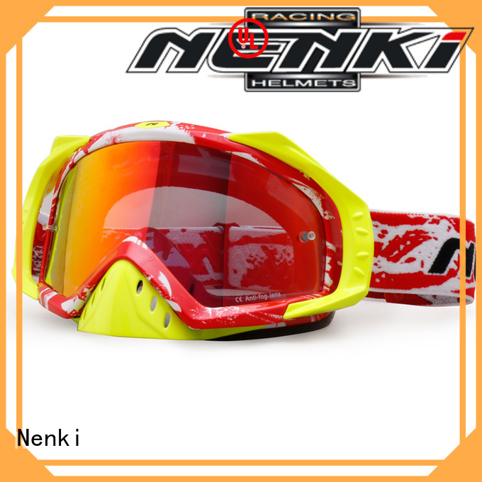 dustproof Anti-Impact wholesale cheap motocross goggles Fashion Nenki Brand