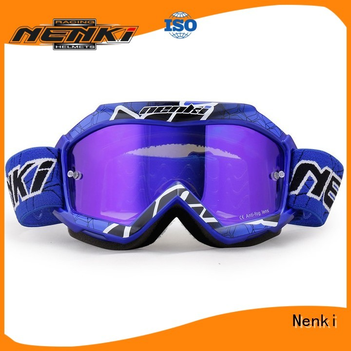 Nenki Brand certified cheap motocross goggles Fashion factory