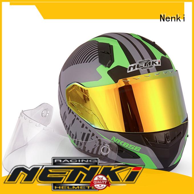 Top rated visor shell full face motorcycle helmets for sale Multi Color Nenki Brand