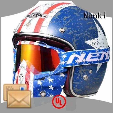 Hot selling High quality open face helmets online Unique Nenki Brand